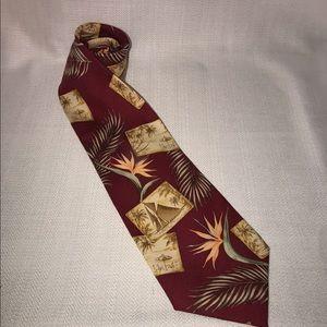 Tommy Bahama Print 100% Silk Men's Tie